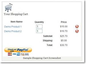 Vendiendo en wordpress son simple shopping paypal cart