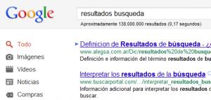 google resultados ranking