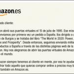 A partir de ahora Amazon.es España.
