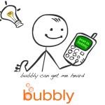 """Bubbly el """" Twitter con voz """" está creciendo en todo el mundo."""