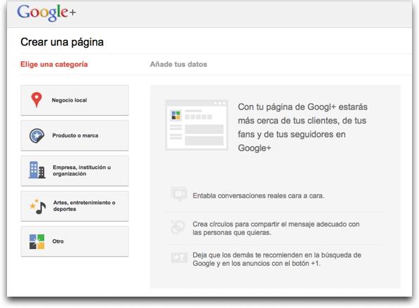 google + paginas