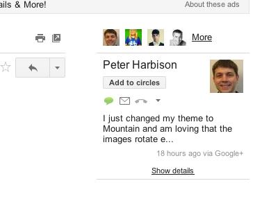 gmail- google+