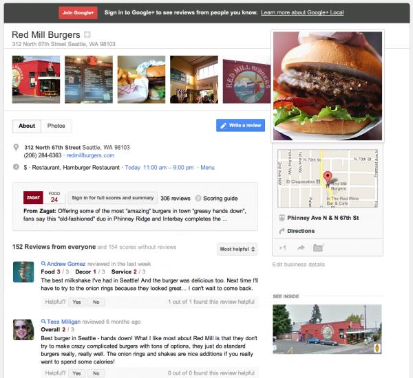 google plus local comentarios