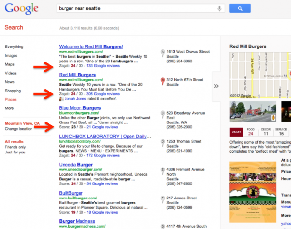SERP SEO Google plus local 2