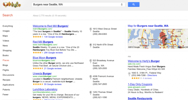SERP SEO Google plus local