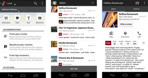 Google plus local desde android
